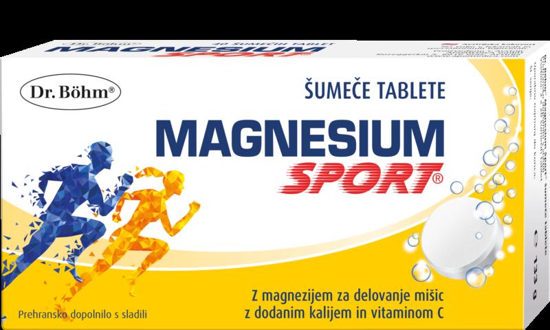 Dr. Böhm® Magnesium Sport® šumeče tablete